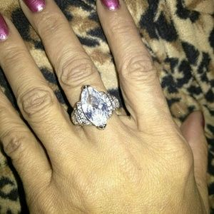 Huge Marquis CZ engagement Ring